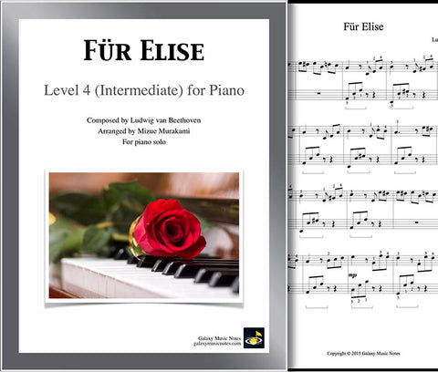Fur Elise Level 4 - Cover & 1st page
