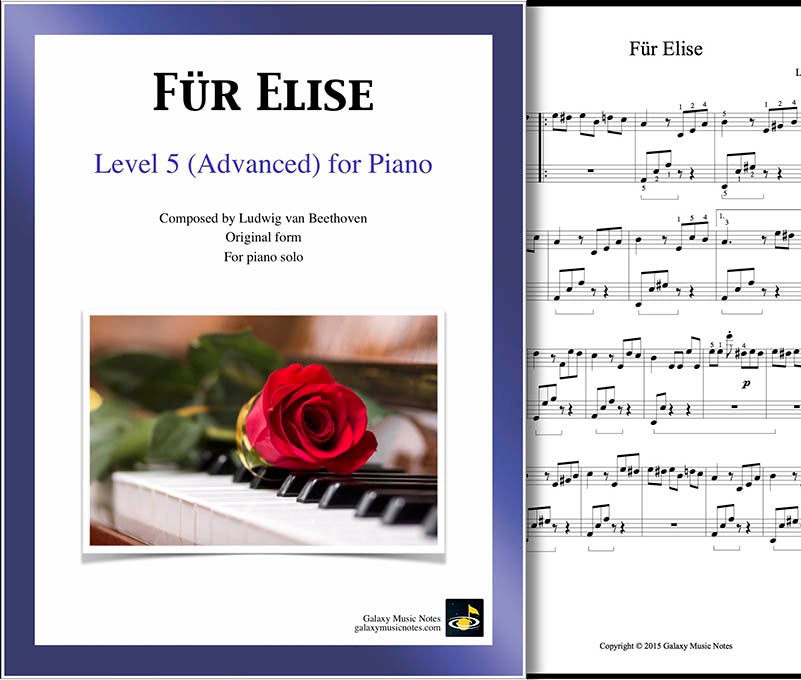 Fur Elise Piano Sheet Music Advanced Galaxy Music Notes