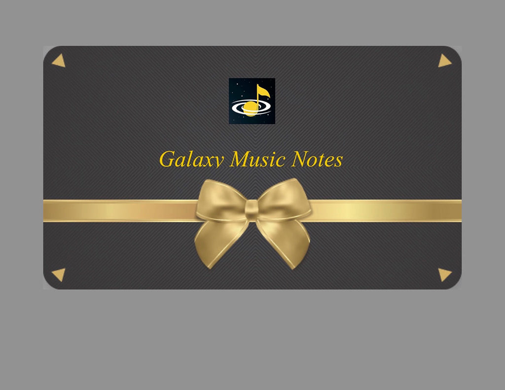 eGift Card: Regular from Galaxy Music Notes