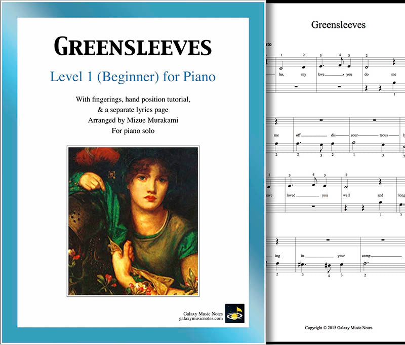 Greensleeves: Level 1 - cover sheet