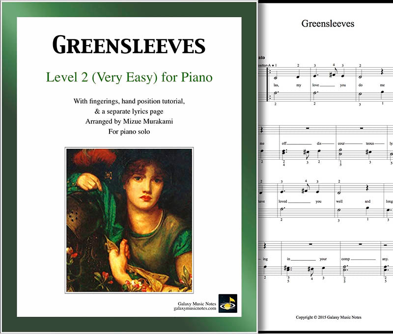 Greensleeves Level 2 - Cover sheet & 1st page