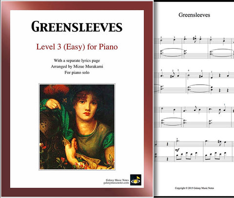 Greensleeves Level 3 - Cover sheet & 1st page