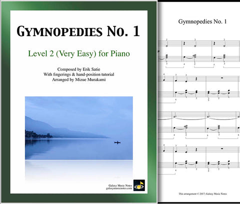 Gymnopedies No. 1 Level 2 - Cover sheet