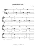 Gymnopedies No. 1 Level 2 - 1st piano music sheet