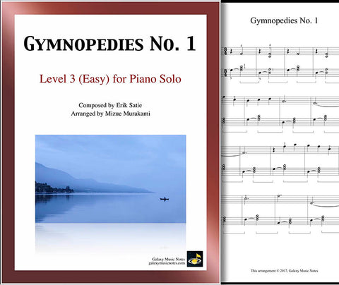 Gymnopedies No. 1 Level 3 - Cover sheet & 1st page