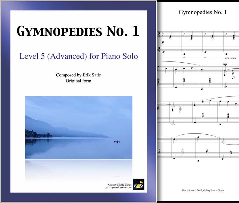 Gymnopedies No. 1 Level 5 - Cover sheet & 1st page
