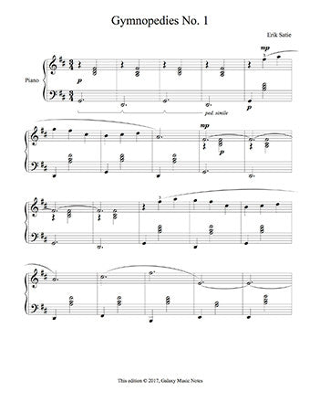 Gymnopedies No. 1 Level 5 - 1st piano music sheet