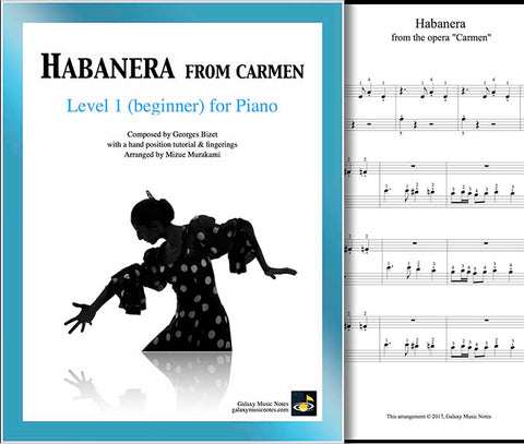 Habanera | Carmen | Level 1 | Cover & partial 1st page
