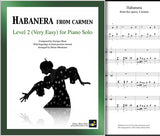Habanera from Carmen Level 2 - Cover sheet & 1st page