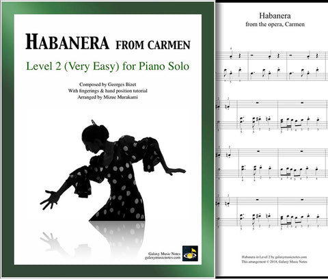 Habanera | Carmen | Level 2 - Cover & partial 1st page