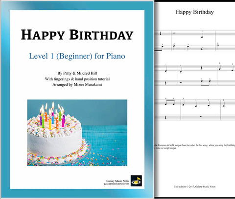 Happy Birthday Level 1 - Cover sheet
