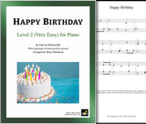 Happy Birthday Level 2 - Cover sheet & 1st piano sheet