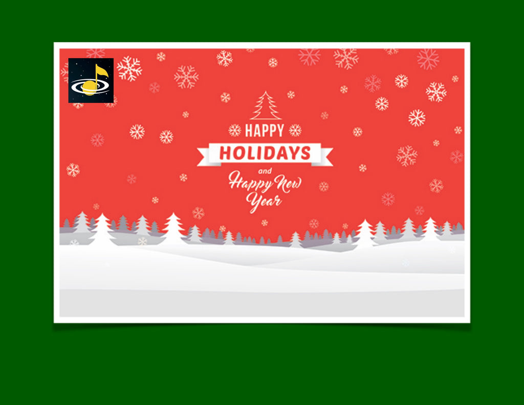 eGift Card: Winter Holiday - Galaxy Music Notes