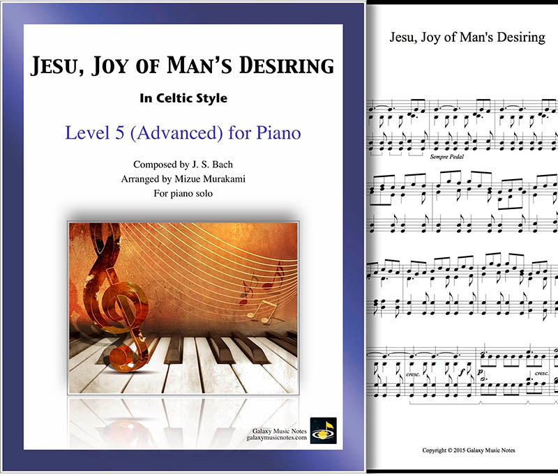 Jesu, Joy of Man's Desiring | Level 5 | Celtic | Cover & 1st page