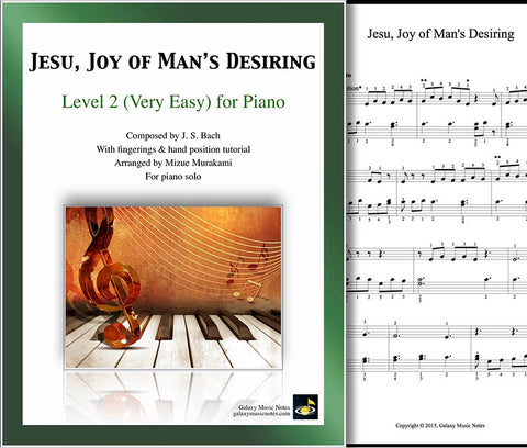 Jesu, Joy of Man's Desiring Level 2 - Cover & 1st page