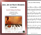 Jesu, Joy of Man's Desiring | Easy | Celtic | Cover & 1st page