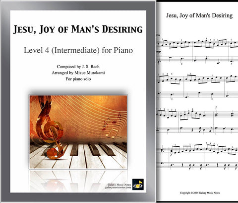 Jesu, Joy of Man's Desiring: Level 4 - cover sheet