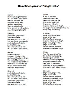 Jingle Bells - Lyrics page