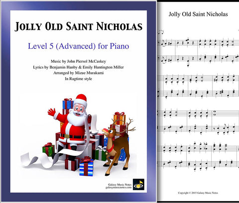 Jolly Old Saint Nicholas Level 5 - Cover sheet & 1st page