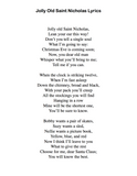 Jolly Old Saint Nicholas: Level 2 - Lyrics page