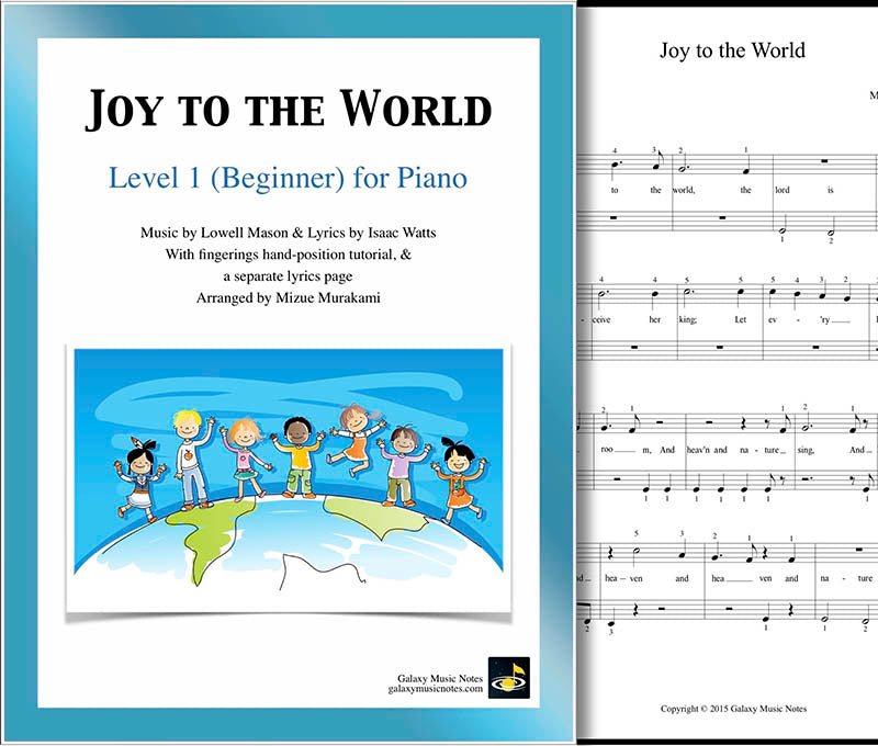 Sheet Music And Lyrics To Joy To The World: Beginner's Piano Sheet Music