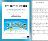 Joy to the World Level 1 - Cover sheet & 1st piano sheet