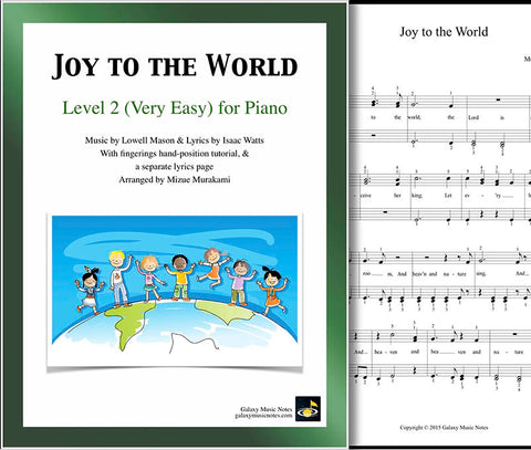 Joy to the World Level 2 - Cover & 1st piano sheet