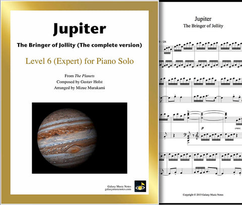 Jupiter (complete) Level 6 - Cover sheet & 1st page