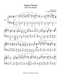 Jupiter Theme Level 5 - 1st piano music sheet