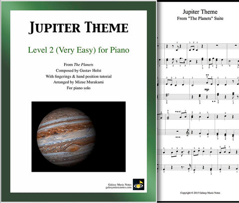Jupiter Theme Level 2 - Cover sheet & 1st page