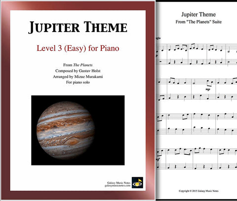 Jupiter Theme Level 3 - Cover sheet & 1st page