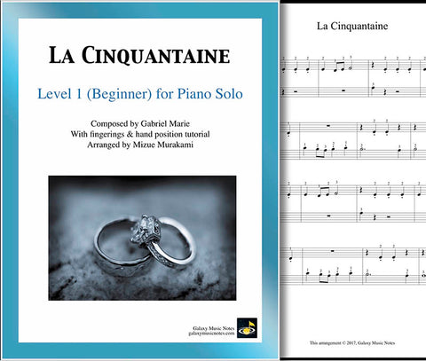 La Cinquantaine Level 1 - Cover sheet & 1st page