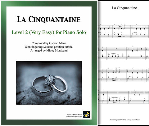 La Cinquantaine Level 2 - Cover sheet & 1st page