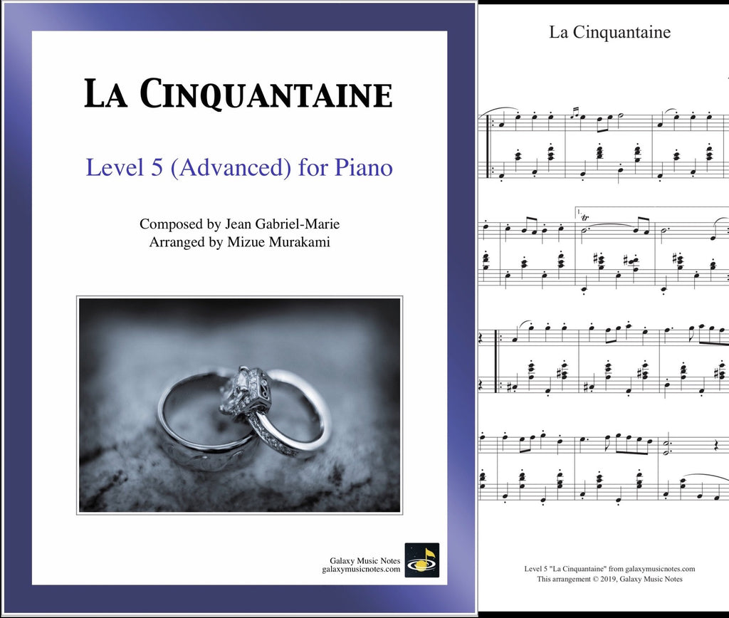 La Cinquantaine: Level 5 - 1st piano page & cover