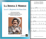 La Donna e Mobile Level 1 - Cover sheet & 1st page