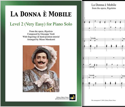La Donna e Mobile Level 2 - Cover sheet & 1st page