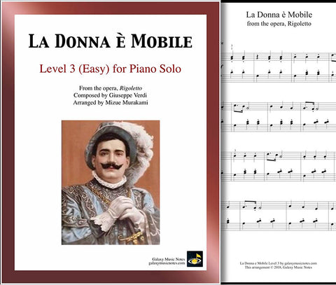 La Donna e Mobile Level 3 - Cover sheet & 1st page