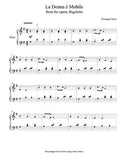 La Donna e Mobile Level 3 - 1st piano music sheet