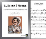 La Donna e Mobile Level 4 - Cover sheet & 1st page