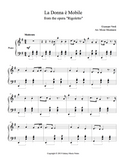 La Donna e Mobile Level 4 - 1st piano music sheet