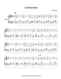 1st page of Liebestraum Level 2 piano sheet music