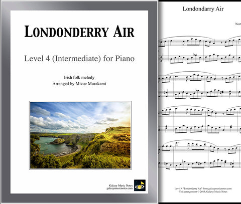Londonderry Air: Level 4 - 1st music page & cover