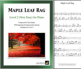Maple Leaf Rag: Level 2 - 1st piano page & cover