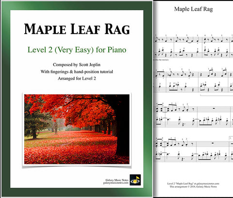 Maple Leaf Rag: Level 2 - Cover sheet & 1st page