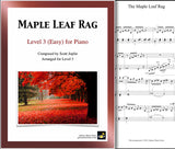 Maple Leaf Rag: Level 3 - 1st piano page & cover