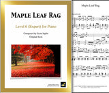 Maple Leaf Rag: Level 6 - 1st piano page & cover