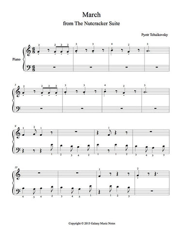 March from The Nutcracker Level 1 - 1st piano music sheet