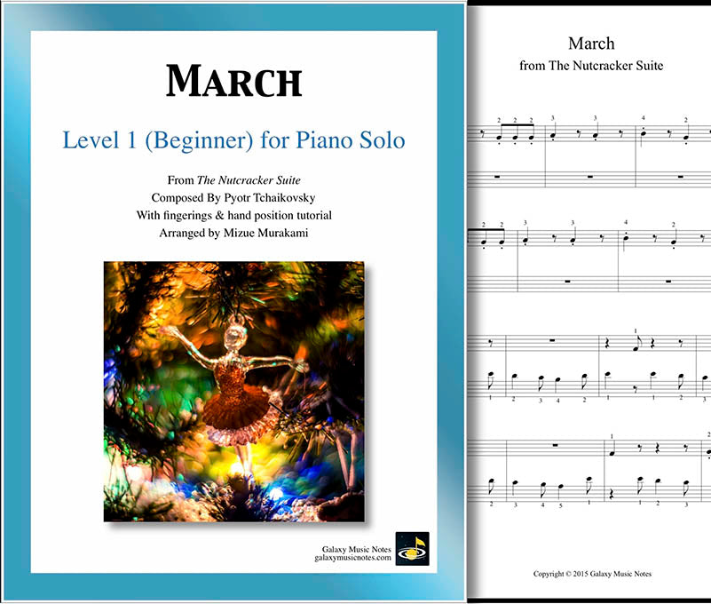 March | Nutcracker | Level 1 | Cover sheet & 1st page