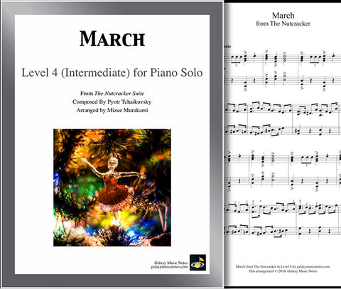 March from The Nutcracker Level 4 - Cover & partial 1st page