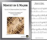Cover sheet of Minuet in G Major - Level 4